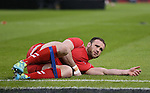 Jamie Roberts of Wales warms up - RBS 6Nations 2015 - Wales  vs England - Millennium Stadium - Cardiff - Wales - 6th February 2015 - Picture Simon Bellis/Sportimage