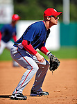 4 March 2010: Washington Nationals' third baseman Pete Orr in action during the Nationals-Astros Grapefruit League Opening game at Osceola County Stadium in Kissimmee, Florida. The Houston Astros defeated the Nationals split-squad 15-5 in Spring Training action. Mandatory Credit: Ed Wolfstein Photo