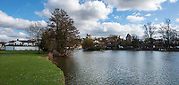 BNPS.co.uk (01202 558833)<br /> Pic: PhilYeomans/BNPS<br /> <br /> Windsor Castle viewed from the Thames today.<br /> <br /> 'Old man river, he just keeps rollin' - A remarkable collection of panoramic photographs of the Thames taken 160 years ago have emerged for auction, and they reveal how little the famous old river has changed in the last century and a half.<br /> <br /> They follow the river from London to Oxford in 40 photographs providing a fascinating insight into how the famous river looked in the mid-19th century.<br /> <br /> Londoner Victor Prout started photographing the Thames in 1857 using a camera which would produce wide-vision images because of a lens that swung round and 'scanned' sections of the picture.<br /> <br /> This rare complete copy of the first edition of Prout's pioneering panoramics has emerged for auction and is tipped to sell for &pound;12,000 when they go under the hammer at Bonhams on March 1.