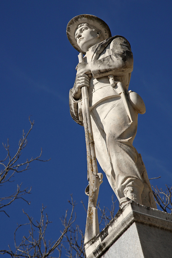 Confederate memorial at the courthouse in Georgetown, Texas. Erected 1916.