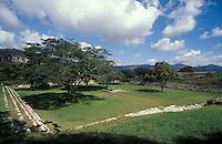 The Sunken Plaza or Plaza Hundida at the Mayan ruins of Chinkultic near Comitan, Chiapas, Mexico