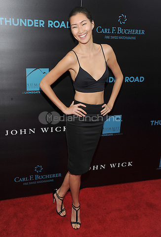 New York, NY- October 13: Ping Hue attends the Summit Entertainment and Thunder Road Pictures New York screening of John Wick at the Regal Union Square on October 13, 2014 in New York City. Credit: John Palmer/MediaPunch