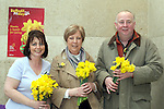 Collette Byrne, Stephanie Turner and John Dunne on Daffoldil Day...Photo NEWSFILE/Jenny Matthews.(Photo credit should read Jenny Matthews/NEWSFILE)....This Picture has been sent you under the condtions enclosed by:.Newsfile Ltd..The Studio,.Millmount Abbey,.Drogheda,.Co Meath..Ireland..Tel: +353(0)41-9871240.Fax: +353(0)41-9871260.GSM: +353(0)86-2500958.email: pictures@newsfile.ie.www.newsfile.ie.FTP: 193.120.102.198.