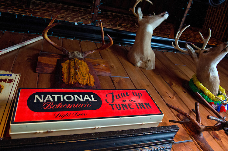 UNITED STATES - JUNE 14:  A National Bohemian beer sign hangs in the Tune Inn on Pennsylvania Avenue, SE, on Capitol Hill.  (Photo By Tom Williams/CQ Roll Call)