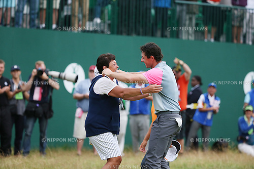 Rory McIlroy (NIR), JULY 20, 2014 - Golf : Rory McIlroy of Northern Ireland, right, celebrates his winning with his mother on the 18th hole during the final round of the 143rd British Open Championship at Royal Liverpool Golf Club in Hoylake, England. (Photo by Koji Aoki/AFLO SPORT) [0008]