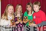 Enjoying the awards at the Killarney South Community games in the Dromhall on Sunday night were Elaina Galvin, U10 swimming, Jennifer Fitzgerald, Judo u16, Emma Fitzgerald, judo u16, and Adam ladner, gymnastics u10.   Copyright Kerry's Eye 2008