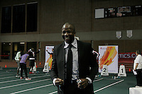 March 14, 2014 - Donovan Bailey Celebrity Sprint Challenge wiith Donovan Bailey – Double Olympic gold medalist, former 100m World record holder<br /> Mathieu Dandenault – 3-time Stanley Cup Champion IN PHOTO.<br /> <br /> Catherine Ward – 2-time Olympic gold medalist (women's hockey)<br /> Georges Laraque – played 695 NHL games with 4 teams (Edmonton, Phoenix, Pittsburgh, Montreal)<br /> Sheridon Baptiste – 3-time Olympian (bobsleigh)