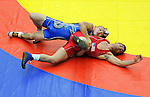 January 26, 2013: Greco-Roman wrestling during the Jack Pinto Cup at the United States Olympic Training Center, Colorado Springs, Colorado.  This unique dual format international competition has been named in memory of Jack Pinto, a young USA Wrestling member and one of the shooting victims at Sandy Hook Elementary School, Newtown, CT.