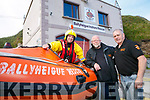 The Launch of the Ballyheigue Inshore Rescue Service biker treasure hunt fundraisers on the 16th july starting at Ballyroe Heights Hotel . Pictured Tim Aslett, Kevin Fay and Sean Lucid