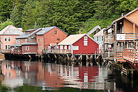 Quaint shops on Creek Street, Ketchikan, AK, Alaska