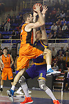Montakit Fuenlabrada's Ian O'Leary (l) and Herbalife Gran Canaria's Darko Planinic during Eurocup, Top 16, Round 2 match. January 10, 2017. (ALTERPHOTOS/Acero)