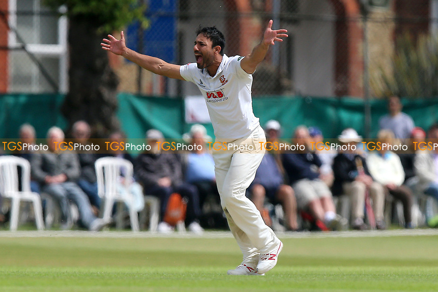 Ravi Bopara of Essex with an appeal for a wicket during Surrey CCC vs Essex CCC, Specsavers County Championship Division 1 Cricket at Guildford CC, The Sports Ground on 9th June 2017
