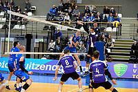 GRONINGEN - Volleybal, Lycurgus - VoCASA, Eredivisie, seizoen 2018-2019, 26-01-2019, smash van Lycurgus speler Auke van der Kamp