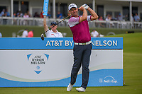 Padraig Harrington (IRL) watches his tee shot on 15 during round 1 of the AT&T Byron Nelson, Trinity Forest Golf Club, Dallas, Texas, USA. 5/9/2019.<br /> Picture: Golffile | Ken Murray<br /> <br /> <br /> All photo usage must carry mandatory copyright credit (© Golffile | Ken Murray)