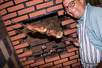 Churrasco, traditional Brazilian barbeque, Vespasiano, Minas Gerais, Brazil, South America, 2007, © Stephen Blake Farrington