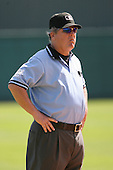 March 19th 2008:  MLB Umpire Jerry Crawford during a Spring Training game at Al Lang Field in St. Petersburg, FL.  Photo by:  Mike Janes/Four Seam Images