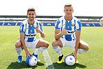 CD Leganes' new players Dani Ojeda (l) and Rodrigo Tarin during their official presentation.  July 11, 2018. (ALTERPHOTOS/Acero)