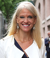 NEW YORK, NY - SEPTEMBER 29: Kellyanne Conway, Donald Trump campaign manager, spotted arriving at 'The View'  in New York, New York on September 29, 2016.  Photo Credit: Rainmaker Photo/MediaPunch