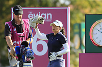 Mo Martin (USA) on the 6th tee during Thursday's Round 1 of The Evian Championship 2018, held at the Evian Resort Golf Club, Evian-les-Bains, France. 13th September 2018.<br /> Picture: Eoin Clarke | Golffile<br /> <br /> <br /> All photos usage must carry mandatory copyright credit (© Golffile | Eoin Clarke)