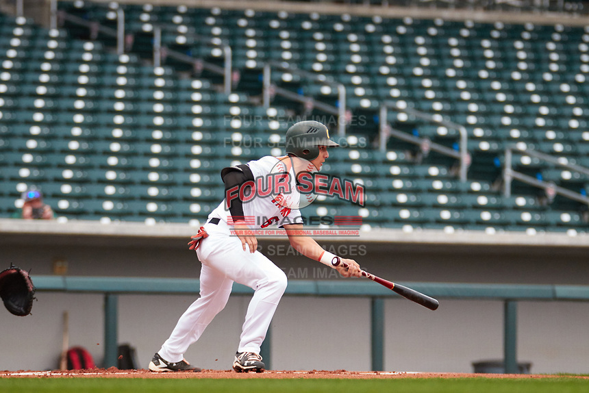 Trey Zahursky (6) of Capuchino High School in Millbrae, California during the Under Armour All-American Pre-Season Tournament presented by Baseball Factory on January 14, 2017 at Sloan Park in Mesa, Arizona.  (Freek Bouw/MJP/Four Seam Images)