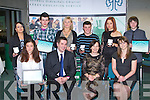AWARDS NIGHT: The students of Tralee Community College at the Kerry Education Student Awards at IT Tralee on Friday seated l-r: Patrycja Buczynska, Brian Harkin (principal), Ann O'Dwyer (acting CEO KES) and Michelle O'Sullivan (guest speaker). Back l-r: Mary Leahy, Timmy McCarthy, Monika Paczuska, Michael James Burke, Simona Beinare and Michael Fisher..