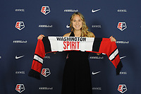 BALTIMORE, MD - JANUARY 16: Ashley Sanchez during the 2020 NWSL College Draft at the Baltimore Convention Center on January 16, 2020 in Baltimore, Maryland.