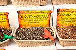 Close up display of Quemagrasas tea, Seville, Spain