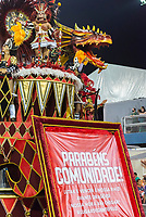 SÃO PAULO, SP, 09.03.2019 - CARNAVAL-SP - Integrante da escola de samba Dragões da Real durante Desfile das campeãs do Carnaval de São Paulo, no Sambódromo do Anhembi em Sao Paulo, na madrugada deste sábado, 09. (Foto: Anderson Lira/Brazil Photo Press)