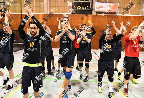 2017-03-30 / Volleybal / Seizoen 2016-2017 / Helvoc - Mortsel / Hellvoc kampioen<br /> <br /> ,Foto: Mpics.be