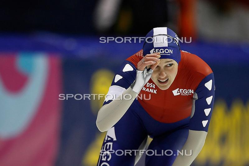 Nederland, Heerenveen, 19 januari 2008 .WK sprint mannen en vrouwen  .Marianne Timmer van Nederland na afloop van haar rit op de 500 meter.