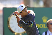 Thorbjorn Olesen (DEN) tees off the 1st tee during Thursday's Round 1 of the 2018 Turkish Airlines Open hosted by Regnum Carya Golf &amp; Spa Resort, Antalya, Turkey. 1st November 2018.<br /> Picture: Eoin Clarke | Golffile<br /> <br /> <br /> All photos usage must carry mandatory copyright credit (&copy; Golffile | Eoin Clarke)