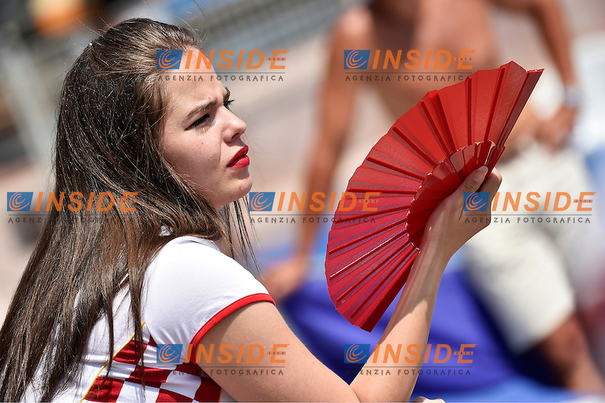 Fan of Croatia <br /> Italia - Georgia / Italy - Georgia<br /> LEN European Water Polo Championships 2014<br /> Alfred Hajos -Tamas Szechy Swimming Complex<br /> Margitsziget - Margaret Island<br /> Day04 - July 17 <br /> Photo A.Staccioli/Insidefoto/