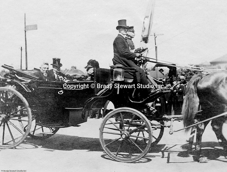 Washington DC:  View of Theodore Roosevelt arriving at the capital for the 1905 inauguration.