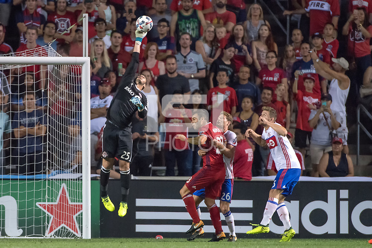 Bridgeview, IL - Saturday, August 19, 2017:  The Chicago Fire play Toronto FC in a Major League Soccer match at Toyota Park in Bridgeview, Illinois.