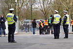 17.03.2019, BayArena, Leverkusen, GER, 1. FBL, Bayer 04 Leverkusen vs. SV Werder Bremen,<br />  <br /> DFL regulations prohibit any use of photographs as image sequences and/or quasi-video<br /> <br /> im Bild / picture shows: <br /> Polizeipraesens<br /> <br /> Foto © nordphoto / Meuter