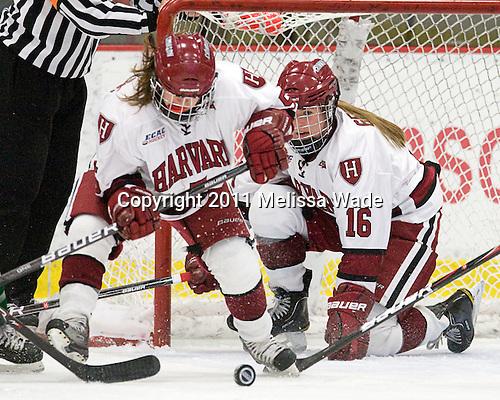 Kelsey Romatoski (Harvard - 5), Marissa Gedman (Harvard - 16) - The visiting Dartmouth College Big Green defeated the Harvard University Crimson 3-2 on Wednesday, November 23, 2011, at Bright Hockey Center in Cambridge, Massachusetts.
