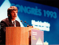 Montreal (QC) CANADA file photo - 1993 - Jean Dore ,congres Union des Municipalites du Quebec (UMQ)...