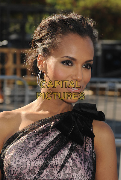 Kerry Washington.The 2011 Do Something Awards held at The Palladium in Hollywood, California, USA..August 14th, 2011.headshot portrait pink black lace one shoulder earrings hoop .CAP/ROT/TM.©Tony Michaels/Roth Stock/Capital Pictures