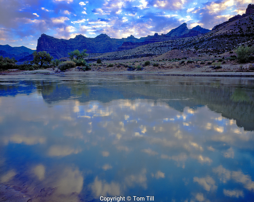 Reflections in the Green River, Desolation Canyon, Utah  Proposed Desolation Canyon Wilderness
