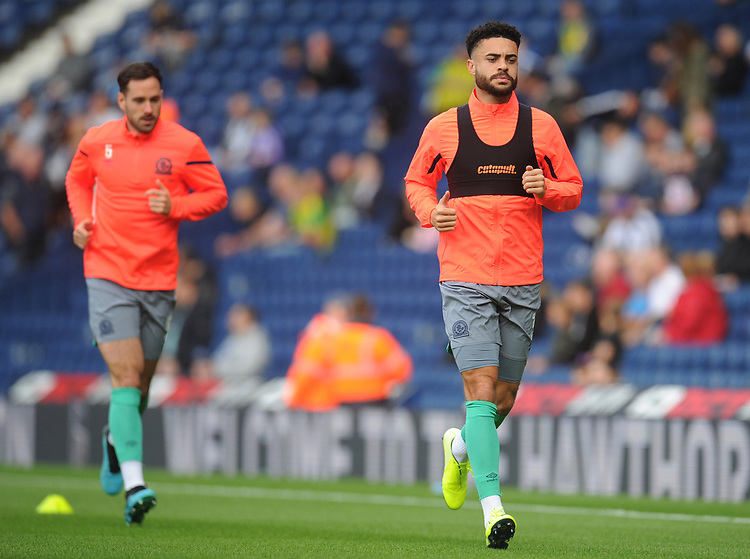 Blackburn Rovers' Derrick Williams during the pre-match warm-up <br /> <br /> Photographer Kevin Barnes/CameraSport<br /> <br /> The EFL Sky Bet Championship - West Bromwich Albion v Blackburn Rovers - Saturday 31st August 2019 - The Hawthorns - West Bromwich<br /> <br /> World Copyright © 2019 CameraSport. All rights reserved. 43 Linden Ave. Countesthorpe. Leicester. England. LE8 5PG - Tel: +44 (0) 116 277 4147 - admin@camerasport.com - www.camerasport.com