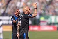 Portland, Oregon - Sunday October 6, 2019: Magnus Eriksson #7 reacts to a referee decision during a regular season match between Portland Timbers and San Jose Earthquakes at Providence Park in Portland, Oregon.