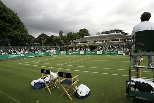 18.06.2011 The BNP Paribas Tennis Classic from the Hurlingham Club in London. McNamara and Pernfors v Bahrami and Bates.
