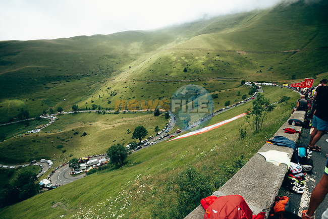 The publicity caravan passes before the race arrives on Stage 12 of the 2019 Tour de France running 209.5km from Toulouse to Bagneres-de-Bigorre, France. 18th July 2019.<br /> Picture: ASO/Thomas Maheux   Cyclefile<br /> All photos usage must carry mandatory copyright credit (© Cyclefile   ASO/Thomas Maheux)