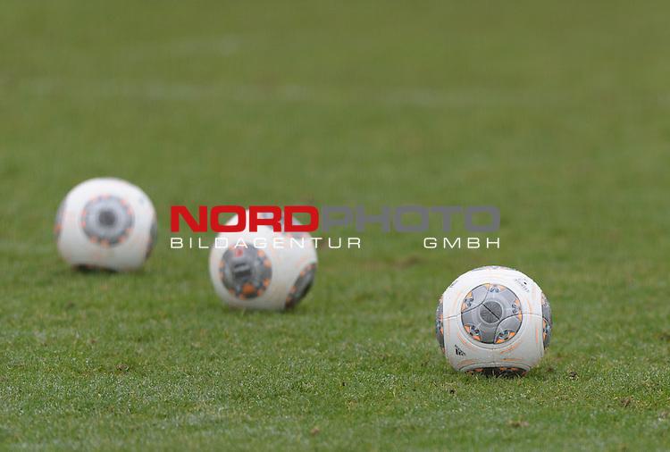 22.01.2014, Trainingsgelaende, Bremen, GER, 1.FBL, Training Werder Bremen, im Bild Feature Fu&szlig;b&auml;lle<br /> <br /> Foto &copy; nordphoto / Frisch