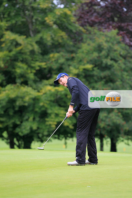 John Ross Galbraith (Whitehead) on the 2nd during round 1 of The Mullingar Scratch Cup in Mullingar Golf Club on Sunday 3rd August 2014.<br /> Picture:  Thos Caffrey / www.golffile.ie