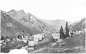 A northerly look up Glasgow Avenue in Rico, CO circa 1882 prior to railroad arriving.<br /> Rico, CO  ca 1882