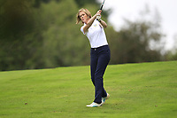 Maureen Grant (Warrenpoint) during the final  of the Ulster Mixed Foursomes at Killymoon Golf Club, Belfast, Northern Ireland. 26/08/2017<br /> Picture: Fran Caffrey / Golffile<br /> <br /> All photo usage must carry mandatory copyright credit (&copy; Golffile   Fran Caffrey)