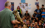 Gabe Kerschner, with Conservation Ambassadors, shows off Nike, a Kinkajou, during a presentation at the Boys &amp; Girls Club of Western Nevada in Carson City, Nev., on Tuesday, June 12, 2018 as part of the Carson City Library's Summer Learning Challenge. <br /> Photo by Cathleen Allison/Nevada Momentum
