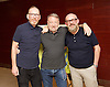 Peter Hook, Mike Pickering and Graeme Park reunited for a special event ahead of the release of the HACIENDA CLASSICAL album (on 21st Oct 2016) this month, and the airing of the HACIENDA HOUSE ORCHESTRA documentary on Channel 4.<br /> 13th October 2016 <br /> Central London, Great Britain <br /> <br /> Peter Hook is executive producer of HACIENDA CLASSICAL.  It takes the un-mistakeable sound of legendary Manchester club FAC 51 The Hacienda, and puts a symphonic spin on classics such as 'You've Got the Love' and 'Ride on Time'. The album follows unprecedented demand for live HACIENDA CLASSICAL shows, including a Royal Albert Hall concert which sold out in minutes<br /> Mike Pickering<br /> Peter Hook<br /> Graeme Park<br /> <br /> <br /> Photograph by Elliott Franks <br /> Image licensed to Elliott Franks Photography Services