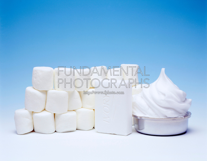 FOAMS: IVORY SOAP, SHAVING CREAM, MARSHMALLOWS<br />